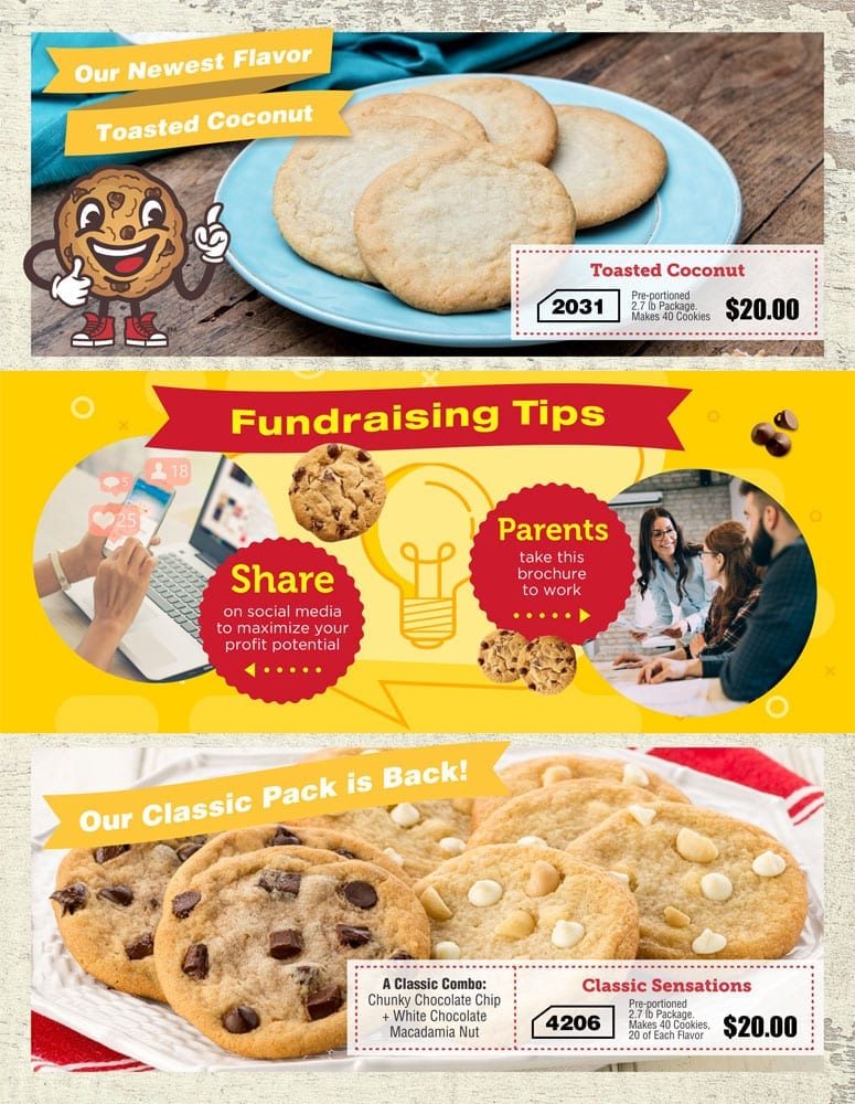 Baseball Cookie Dough Fundraiser
